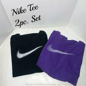 Nike Tees 2pc. Set 1 Large 1 Extra Large
